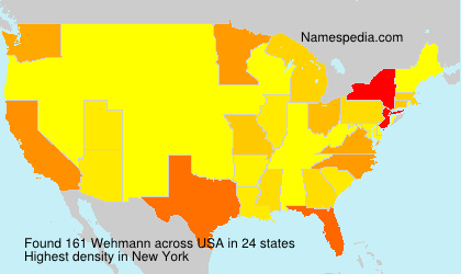 Surname Wehmann in USA