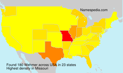Surname Wehmer in USA
