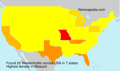 Surname Weidenhoffer in USA