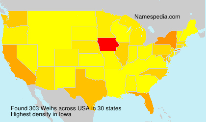 Surname Weihs in USA