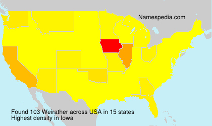 Surname Weirather in USA