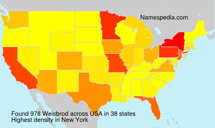 Surname Weisbrod in USA