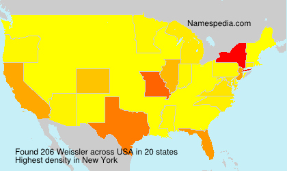 Surname Weissler in USA