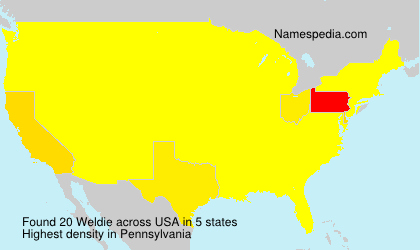 Surname Weldie in USA