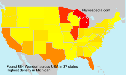 Surname Wendorf in USA