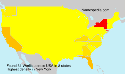 Surname Werlitz in USA