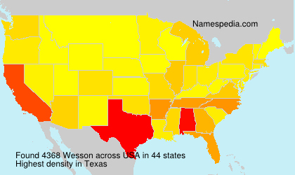 Surname Wesson in USA