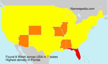 Surname Westt in USA