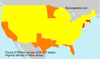 Surname Wether in USA