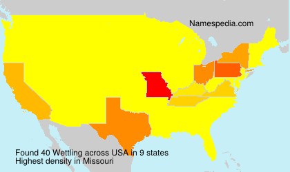 Surname Wettling in USA