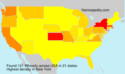 Surname Whearty in USA