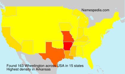 Surname Wheelington in USA