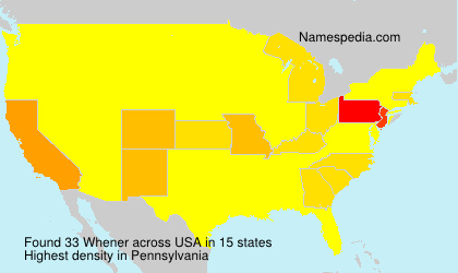 Surname Whener in USA