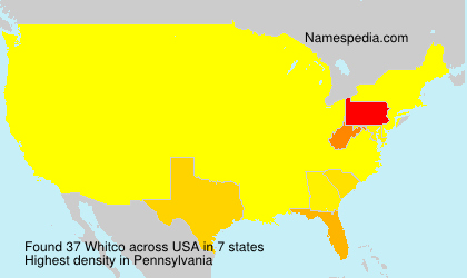Surname Whitco in USA