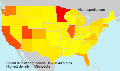 Surname Wiberg in USA