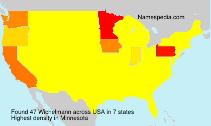 Surname Wichelmann in USA