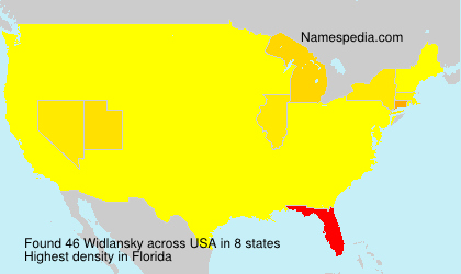 Surname Widlansky in USA