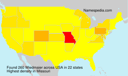 Surname Wiedmaier in USA
