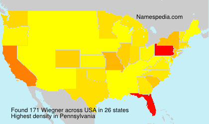 Surname Wiegner in USA