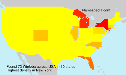 Surname Wieleba in USA