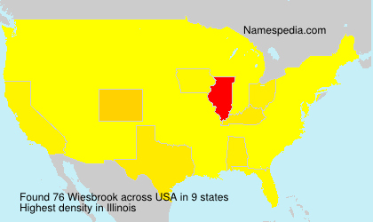 Surname Wiesbrook in USA