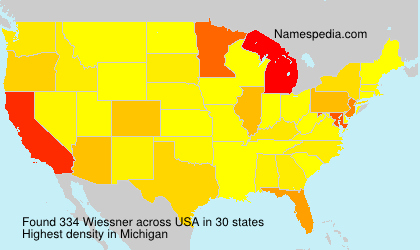 Surname Wiessner in USA