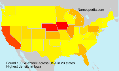 Surname Wiezorek in USA