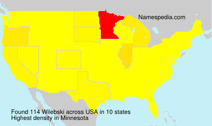 Surname Wilebski in USA
