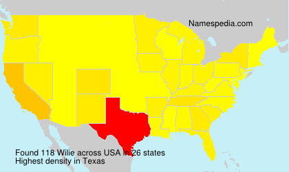 Surname Wilie in USA