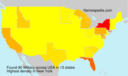 Surname Willacy in USA