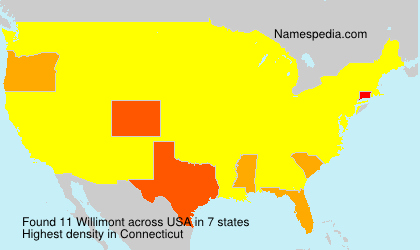 Surname Willimont in USA
