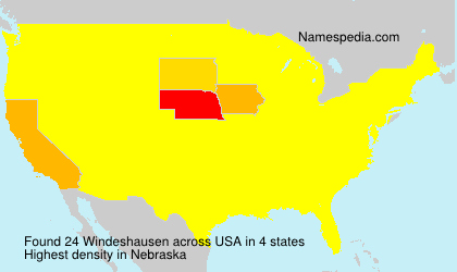 Surname Windeshausen in USA
