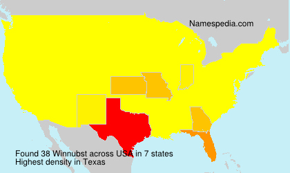 Surname Winnubst in USA