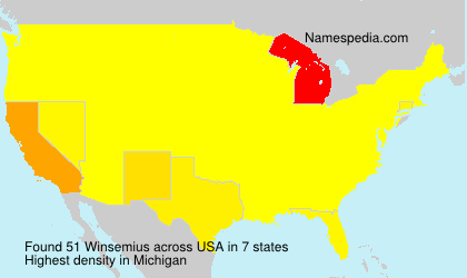 Surname Winsemius in USA