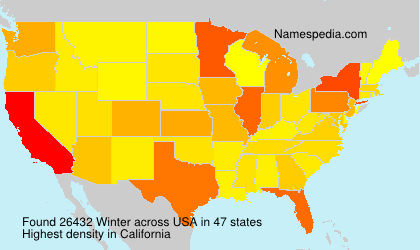 Surname Winter in USA