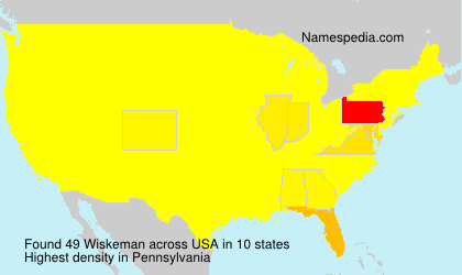Surname Wiskeman in USA
