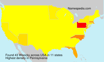 Surname Wisocky in USA