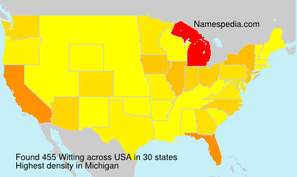 Surname Witting in USA
