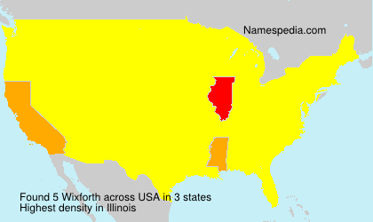 Surname Wixforth in USA