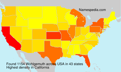 Surname Wohlgemuth in USA