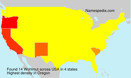Surname Wohlmut in USA