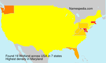 Surname Wolfand in USA