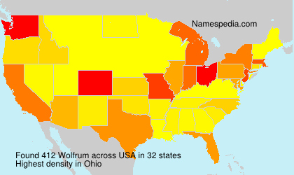 Surname Wolfrum in USA