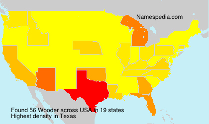 Surname Wooder in USA