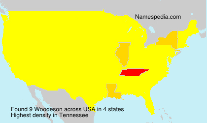 Surname Woodeson in USA