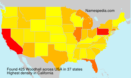 Surname Woodhall in USA