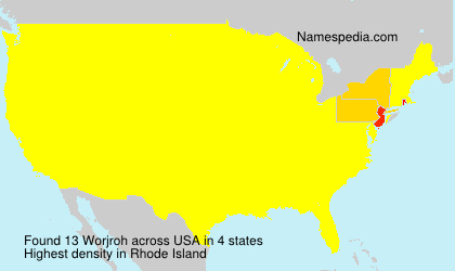 Surname Worjroh in USA