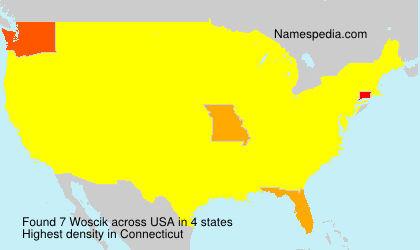 Surname Woscik in USA