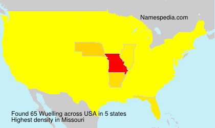 Surname Wuelling in USA