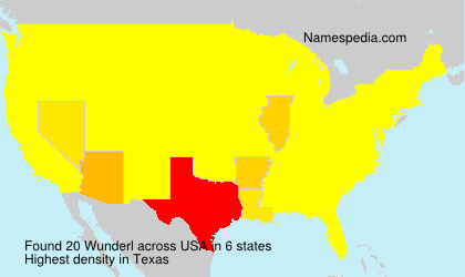 Surname Wunderl in USA